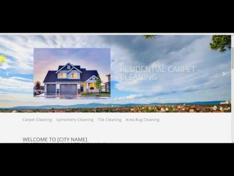 Carpet Cleaning Website for Sale – $299 + $19.95 per month Hosting