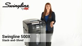 Swingline Stack-and-Shred 500X Heavy-Duty Cross-Cut Shredder, 500 Sheet Capacity
