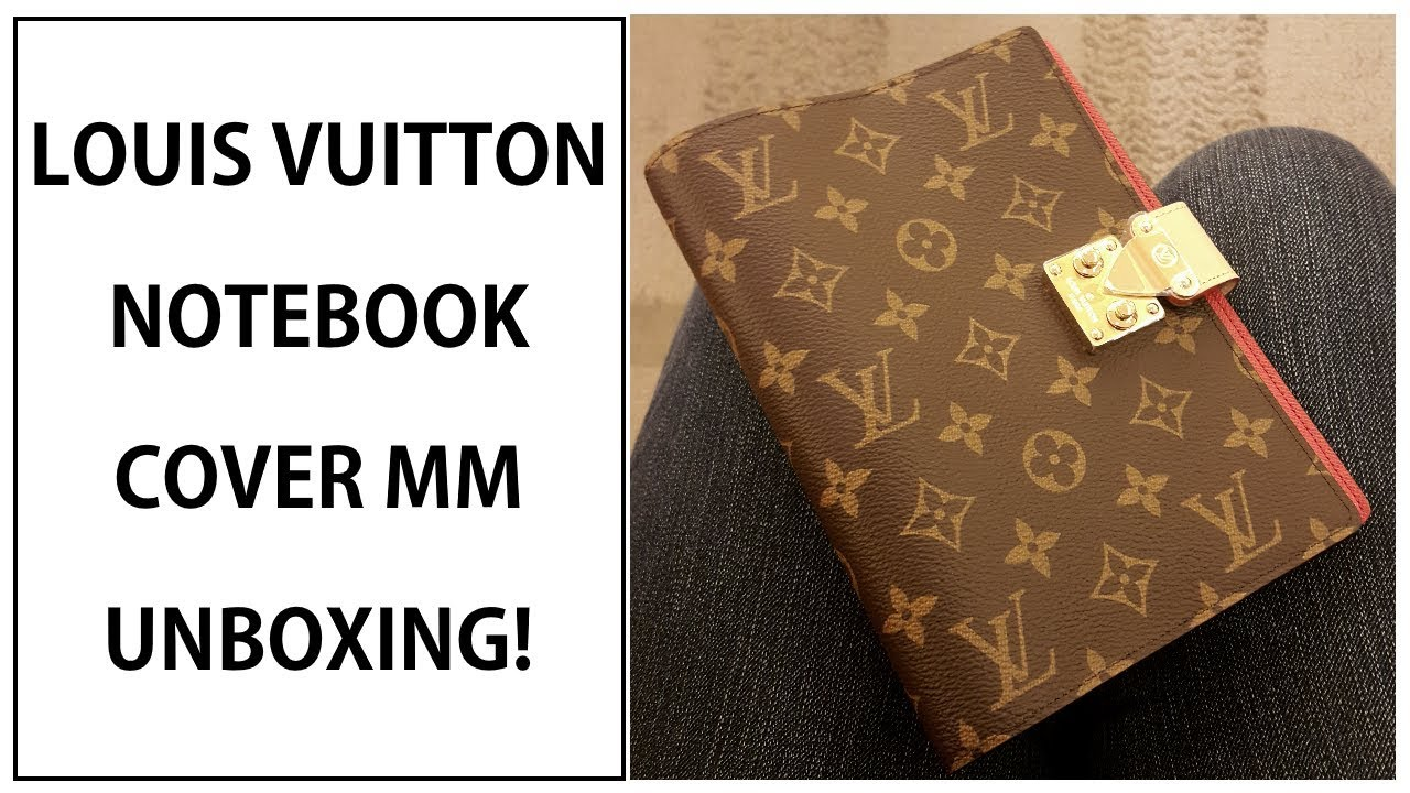 77a15ea977 LOUIS VUITTON PAUL NOTEBOOK COVER MM UNBOXING!!! | WHAT FITS