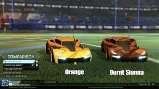 Looper Wheel Similar Color Analysis - Rocket League