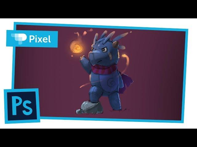 Рисуем простого персонажа в Adobe Photoshop | уроки для новичков
