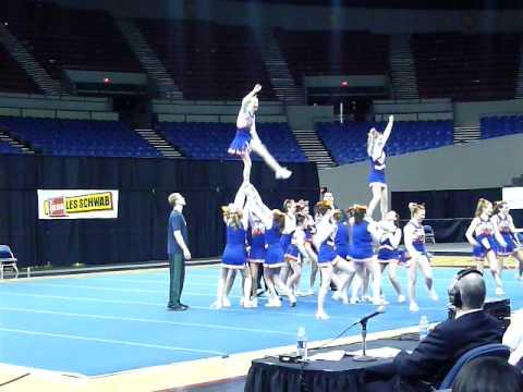 Hidden valley high school at state Cheerleading