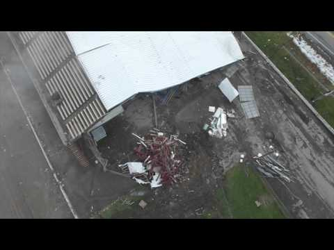 Aerial Video of Implosion of the New York State Fair Grandstand, Syracuse