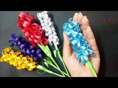 How To Make Pretty Paper Hyacinth Flower - DIY Paper Hyacinth - DIY Curly Paper Flowers