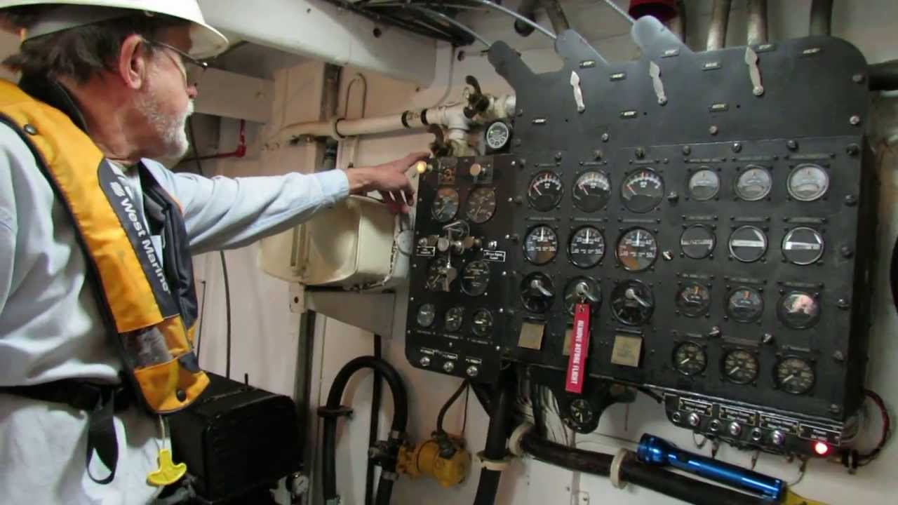 PT Boat Engine Pre Startup Engine Checks (No Startup) Higgins PT658  Portland OR