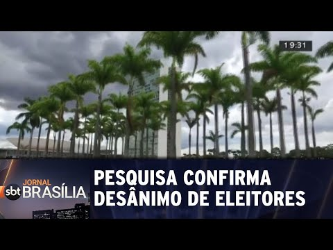 Pesquisa confirma desânimo de eleitores brasilienses | Jornal SBT Brasília 22/08/2018