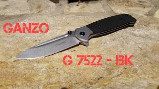 #80 Ganzo Firebird G7522 - BK BallBearing Subframelock Flipper (German)