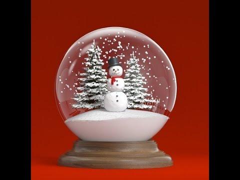 Esfera de nieve 1video de navidad youtube - Esferas de navidad ...