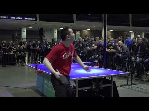 Expert Ping Pong championship match at the GeekWire Bash 2018