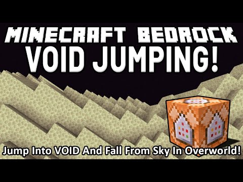 VOID JUMPING in Minecraft Bedrock (Jumping into void in End brings you to spawn in Overworld)!