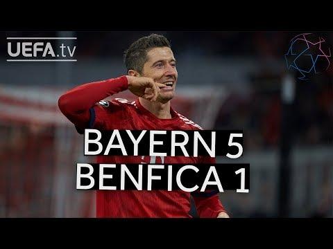 BAYERN 5-1 BENFICA #UCL HIGHLIGHTS