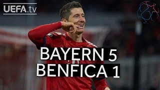 BAYERN 5-1 BENFICA #UCL HIGHLIGHTS