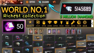 Free fire world no 1 richest player collection | world no 1 richest player collection in free fire