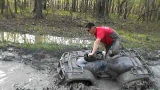 Foreman 500, Can am 500, and Bruteforce 750 hitting ruts