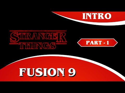Fusion 9 Tutorial - Stranger Things Title Sequence Animation Tutorial - Part 1
