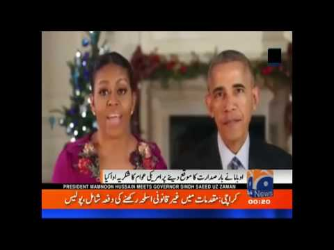 Barack Obama and Mishal Obama special message on this Christmas ...