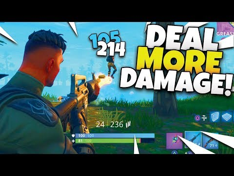 How To DO MORE DAMAGE ON ENEMIES in Fortnite - Tips and Tricks!