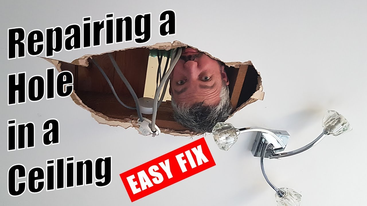 How To Repair A Hole In The Ceiling Repairing A