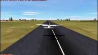 Pouso Cessna 172 FSX (SNIB)