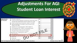 Student Loan Interest Deduction - Adjustments For Adjusted Gross Income (AGI)-Income Tax 2018 2019