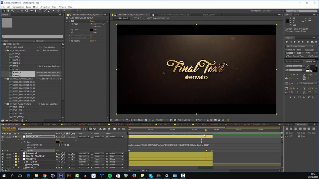 Wedding Intro - After Effects Template Tutorial - YouTube