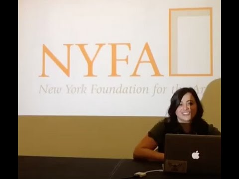 Facebook Live Q&A about NYSCA/NYFA Artist Fellowship Application