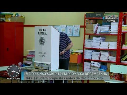 Maioria dos brasileiros não acredita nas promessas de candidatos | SBT Brasil (13/03/18)