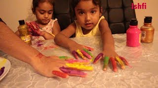 Learn colors with Baby Rufi Ishfi and Finger family song & Nursery Rhymes