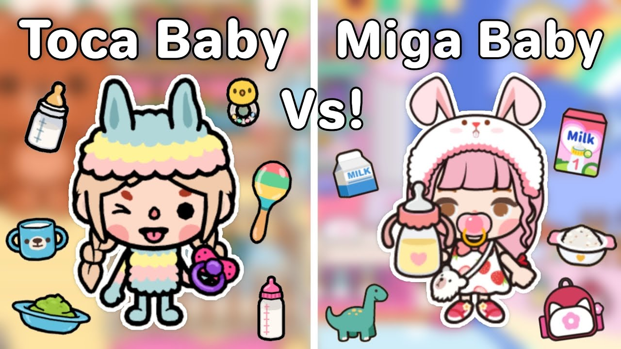 Download Toca Baby Vs Miga Baby🍼👶🏻👩🏻🍼  Routine,เลี้ยงเบบี้,  Toca Life World   Miga World 🌎