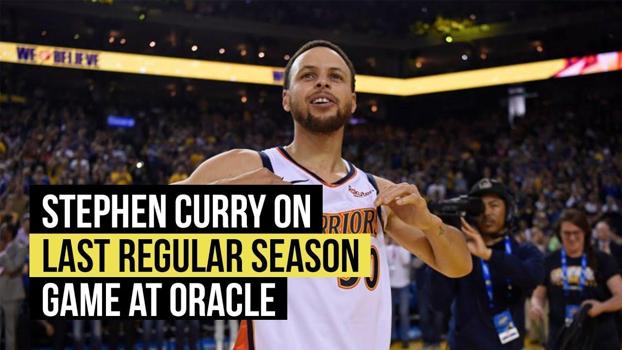 Stephen Curry on Warriors last regular season game at Oracle