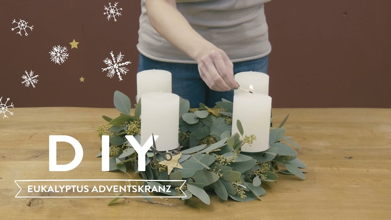 Eukalyptus Adventskranz WESTWING DIY-Tipps - YouTube