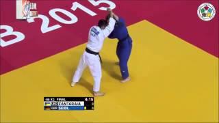 Judo Grand Prix Zagreb 2015 Final -66kg ZANTARAIA Georgii (UKR) vs. SEIDL Sebastian (GER)