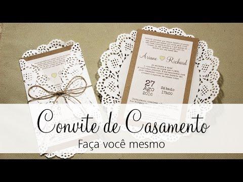 Convite De Casamento Faça Você Mesmo Noiva Sendo Noiva Youtube