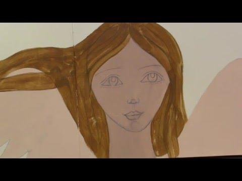 Art Journal Angel;  Start to Finish