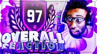 BEST OVERALL REACTION EVER! 97 OVERALL REACTION WITH A 96 OVERALL REACTION!GOLD JERSEY VIP! NBA 2K18