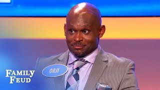 Dumb guy superglued himself to his... | Family Feud