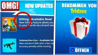 At last! The First Gift LEAK Free Skins Season6 Date|| Fortnite Battle Royale