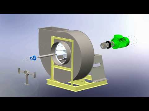 Backward Curved centrifugal Fan assembly