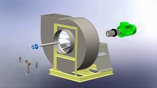 Backward Curved centrifugal Fan assembly