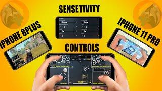 iphone 8plus vs iphone 11pro max handcam gameplay | Setting and sensitivity | predator pubg