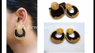 Designer Silk Thread Chandbali Earrings | DIY | Tutorial