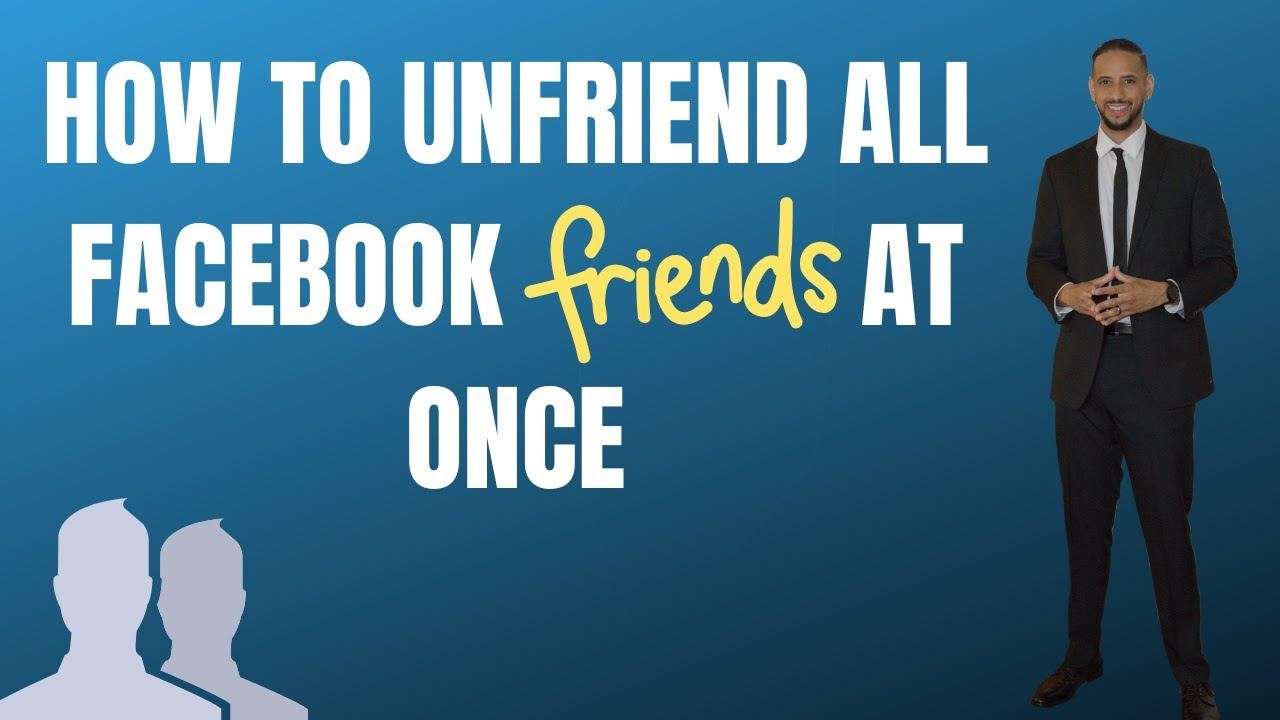 how to delete friends on facebook all at once
