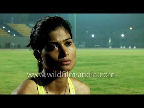 Indian women athletes train for an international sporting event in Delhi