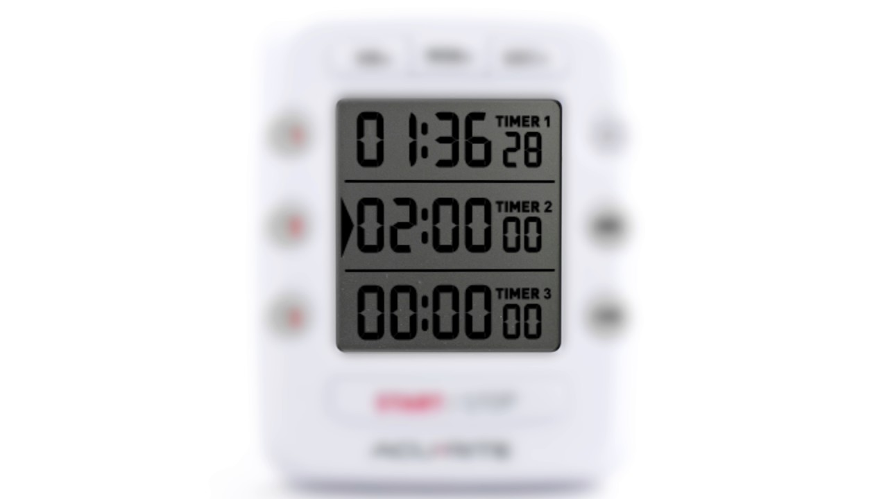 AcuRite 00482W Triple Event Digital Kitchen Timer with Jumbo Display ...