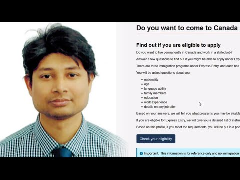 Express Entry - 02 Eligibility Check A to Z ( Md Chhafrul Al