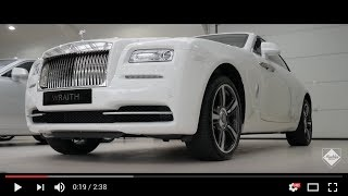 Rolls-Royce Wraith in English white - In-depth Interior and Exterior Walkaround