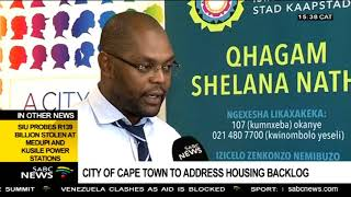 City of Cape Town to address housing backlog