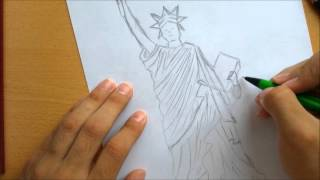 How to Draw a Statue of Liberty