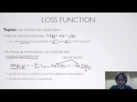 Neural networks [2.2] : Training neural networks - loss function