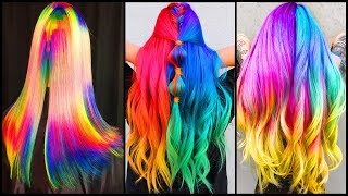 Top 10 Best Hair Color Transformation  Rainbow Hair Tutorials Compilations 2019